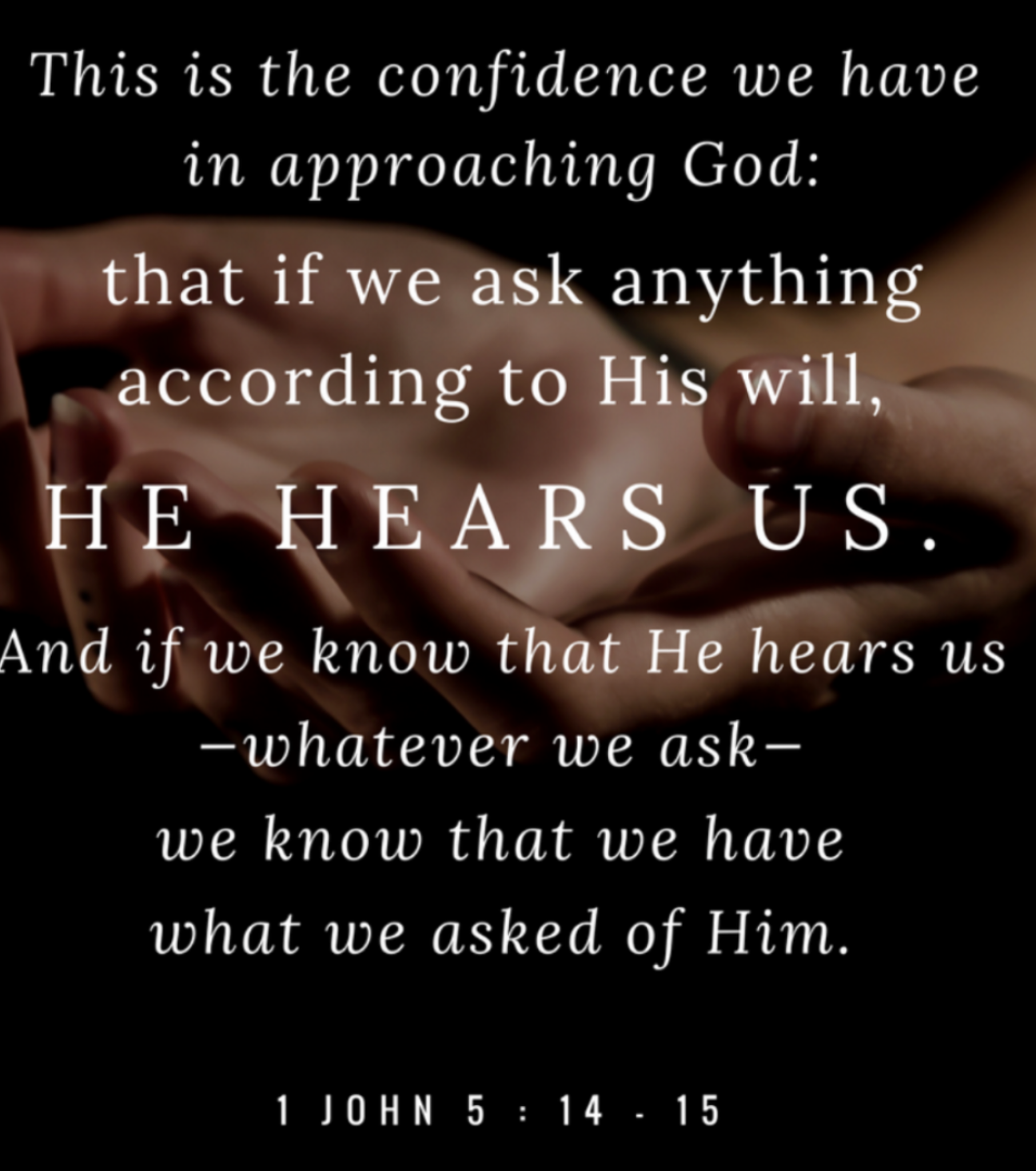 God is answering!